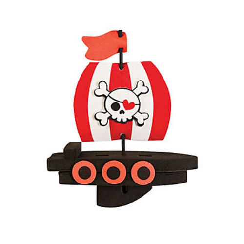 Pirate Themed Foam Floating Boat Craft