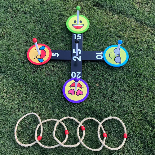Emoji Ring Toss Game - wooden carnival game to buy