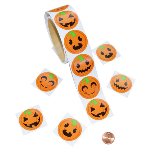 Pumpkin Face Sticker Roll