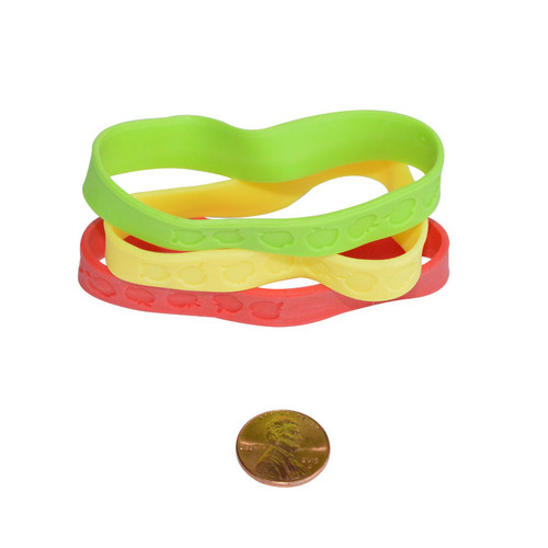 Rubber Apple Bracelets