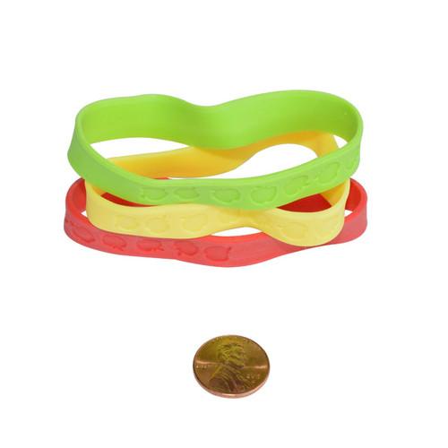 Rubber Apple Bracelets