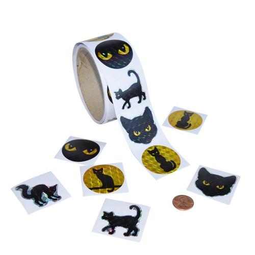 Black Cat Prism Sticker Roll