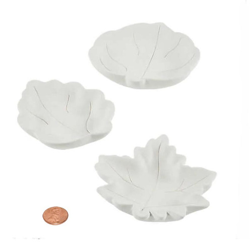 Ceramic Leaf Mini Plates Bowls - ready for painting DIY Fall Craft Wholesale