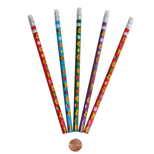 Holiday Emoji Pencils