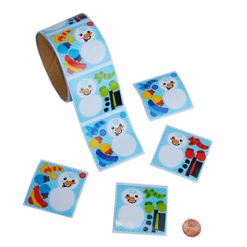 Make-a-Snowman Sticker Roll
