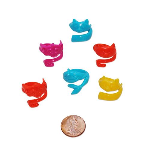 Animal Hugger Rings - plastic novelty kids rings