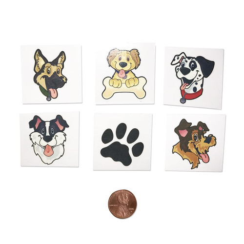 Washable Kids Puppy Dog Tattoos - Temporary Tattoos