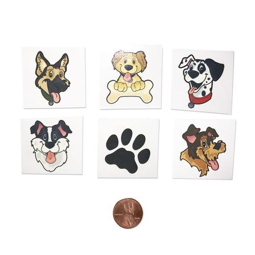 Washable Kids Puppy Dog Tattoos - Temporary Tattoos