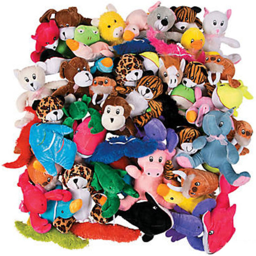 Bulk Crane Carnival Animal Lot - Cheap Stuffed Plush Animals