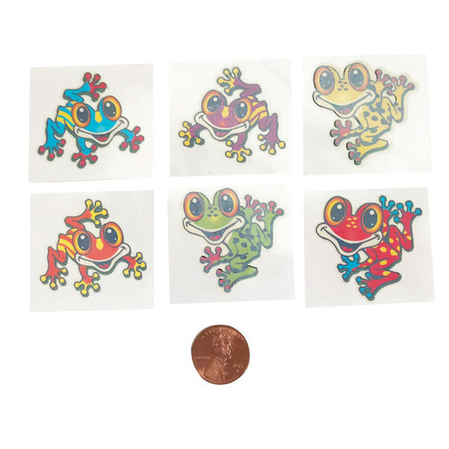 Washable Kids Froggy Tattoos - Temporary Tattoos