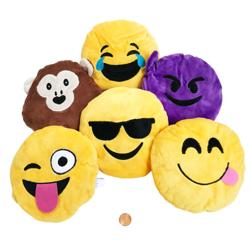 Plush Emoji Characters Small Pillows Carnival Prizes