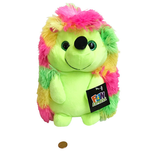 Colorful Stuffed  Toy Animal Hedgehog - 10 inches