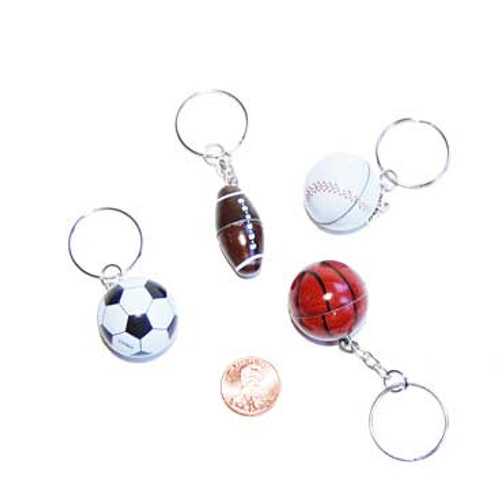 Metal Sports Ball Keychains Wholesale