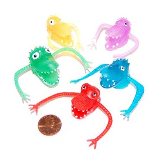 Vinyl Monster Finger Puppets (144 total toys in 2 bags) 18¢ each