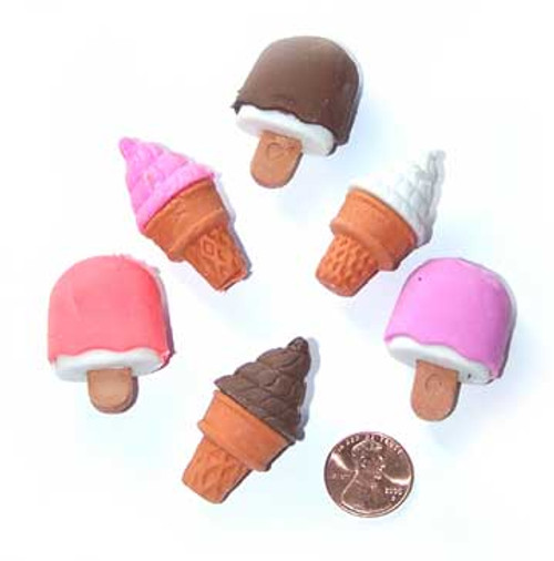Ice Cream Erasers (48/package) 17¢ each