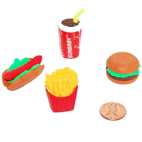 Fast Food Erasers (48/package) 18¢ each