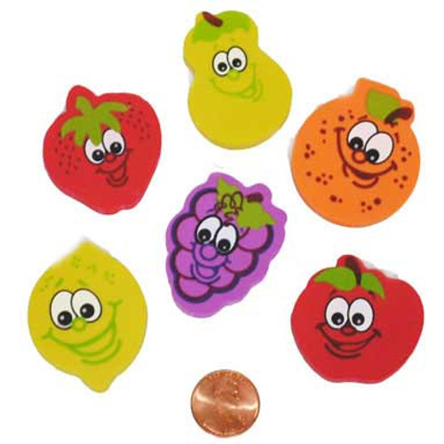 fruit shaped erasers