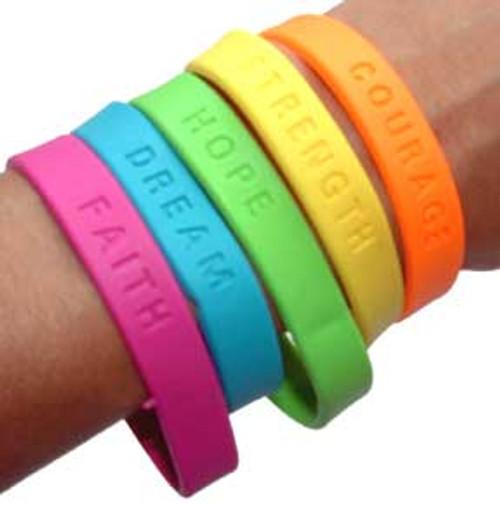 Sayings Bracelets (48 total bracelets in 2 bags) 23¢ each