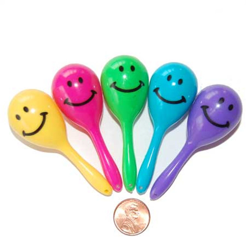 Mini Smile Face Maracas (72/package) 23¢ each
