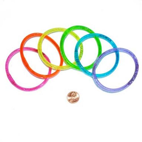 Glitter Water Bracelets (24 total bracelets in 2 bags) 33¢ each