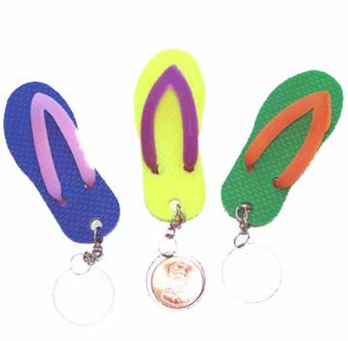 Flip Flop Key Chain (24 total flip flop key chains in 2 bags) 27¢ each