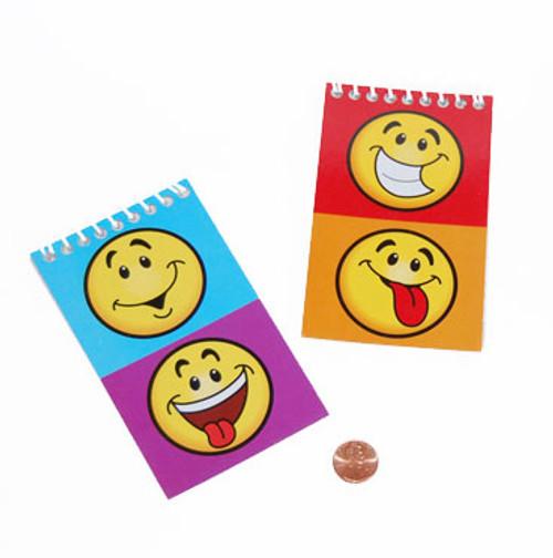 Mini Smile Face Spiral Notepads Kids Novelty Toy