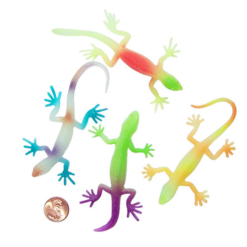 Colorful Glow in the Dark Lizards (12 lizards per package) 44¢ each