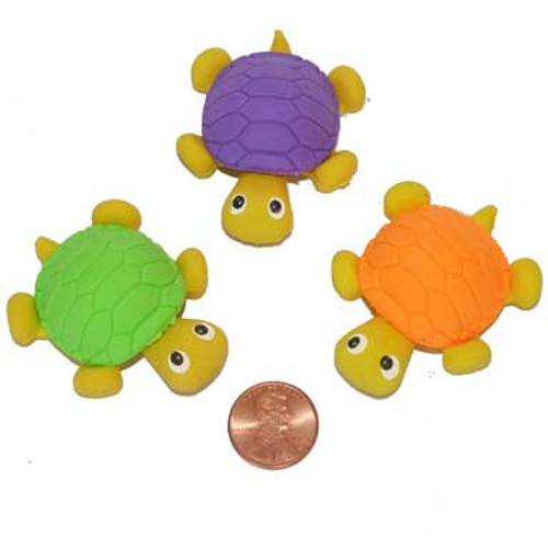 Turtle Erasers (24 total erasers in 2 bags) 36¢ each