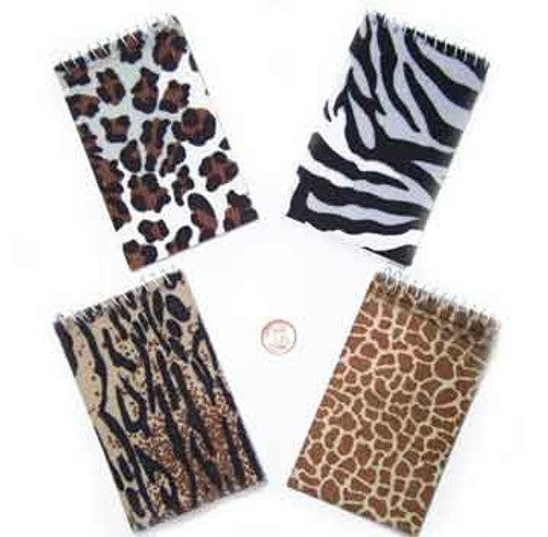 Animal Print Spiral Notepads (24 total notepads in 2 bags) 42¢ each