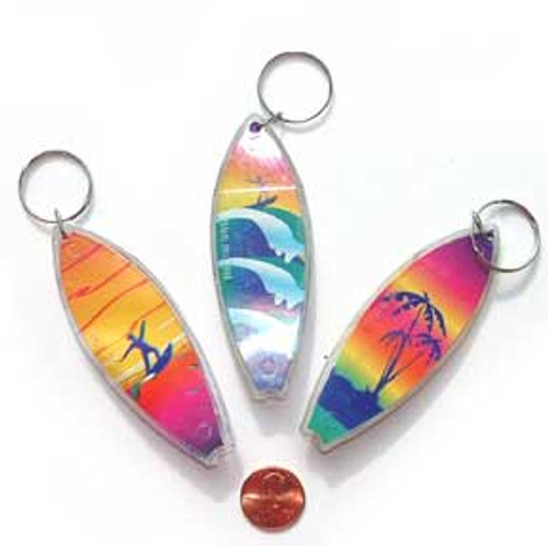 Surfboard Key Chain (24 total key chains in 2 bags) 37¢ each
