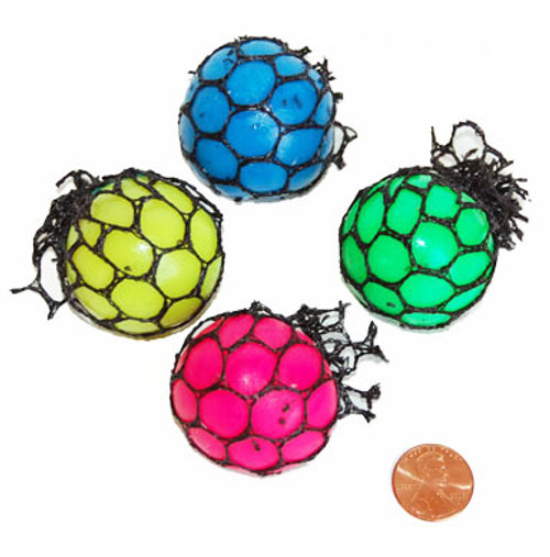 Mesh Covered Mini Squishy Balls (48 total balls in 2 boxes) 45¢ each