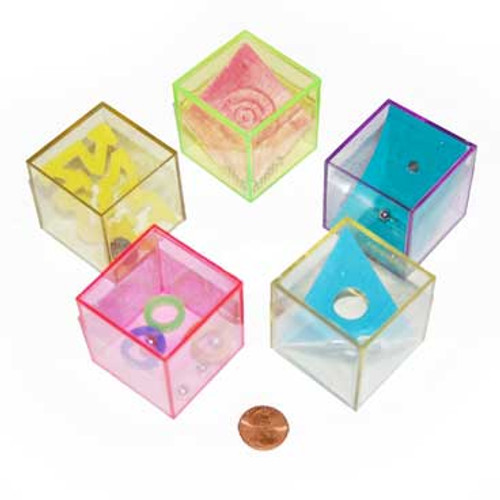 Plastic Glitter Cube Mind Teasers (48 total toys in 2 boxes) 50¢ each