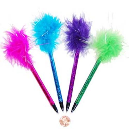 Neon Marabou Pen (24 total pens in 2 bags) 65¢ each