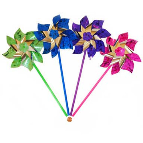 Bright Foil Pinwheels (24 total pinwheels in 2 boxes) 65¢ each