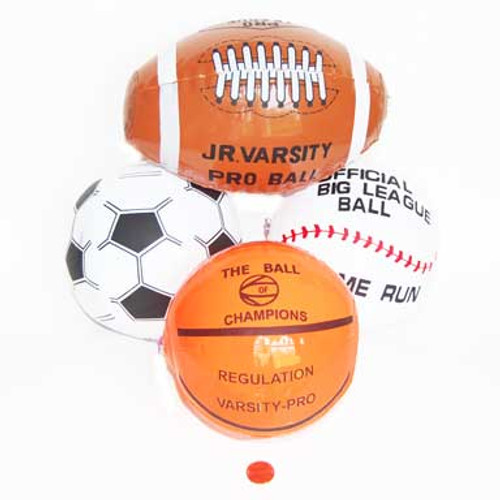 Mini Inflate Sports Balls (24 total inflate sports balls in 2 bags) 53¢ each