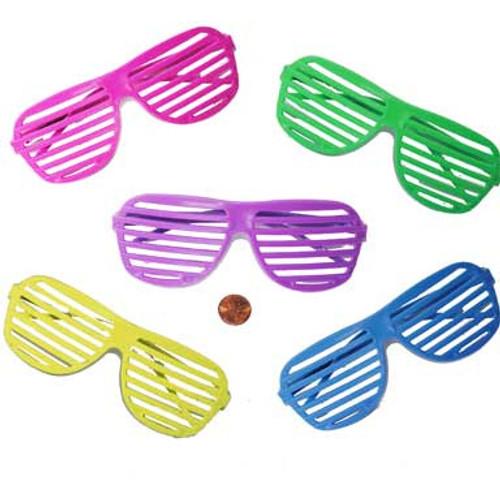 Plastic Shutter Shade Glasses (12/package) 65¢ each