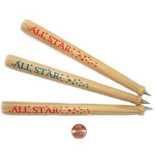 Wooden Baseball Pens (24 total baseball pens in 2 bags) 65¢ each