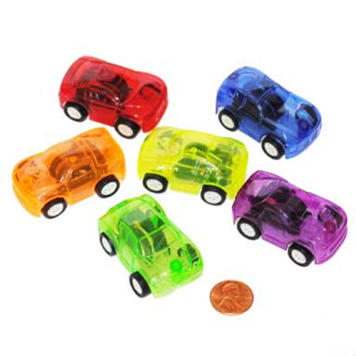 Transparent Pull Back Toy Cars (36 toy cars per package) 55¢ each