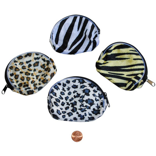 Animal Print Cloth Coin Purse - Wholesale