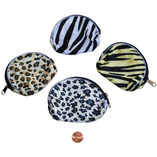 Animal Print Cloth Coin Purse - Wholesale