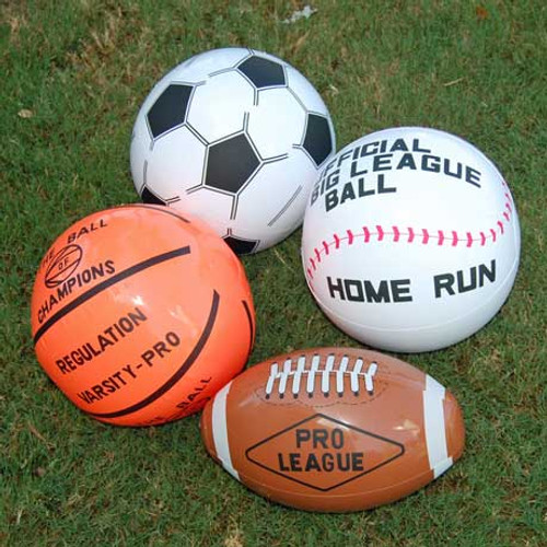 Inflatable Sports Balls (24 total sports balls in 2 bags) 83¢ each