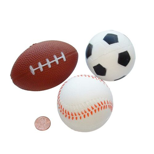Sports Themed Realizable Stress Balls - Football, Baseball, Soccer Ball,