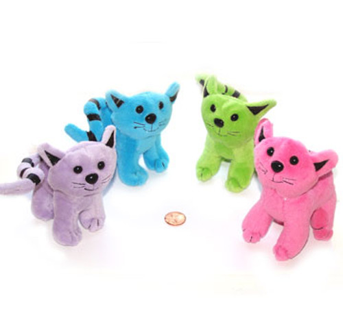Stuffed Colorful Cats (24 total stuffed cats in 2 bags) $1.49 each
