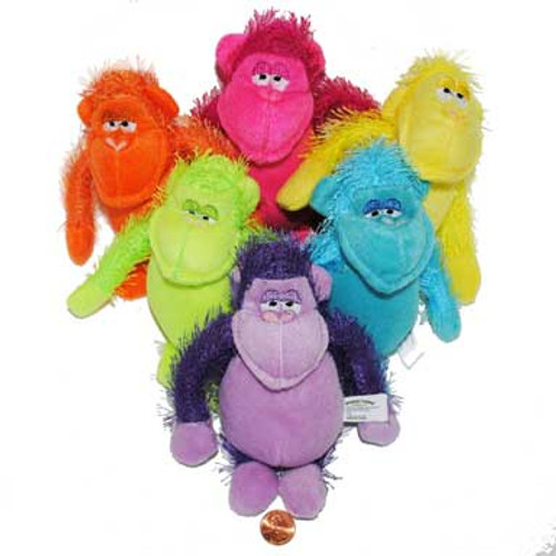 Bright Stuffed Animal Gorillas (24 total gorillas in 2 bags) $1.77