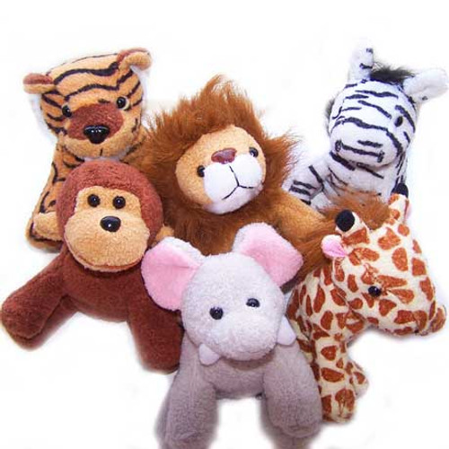Plush Zoo Animals (24 total zoo animals in 2 bags) $1.58 each