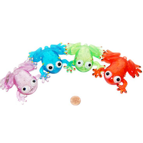 Flashing Squishy Frogs (24 total flashing frogs in 2 bags) $1.28 each