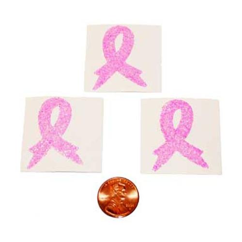 Pink Ribbon Glitter Tattoo Stickers (24 total tattoos in 2 bags) 29¢ each