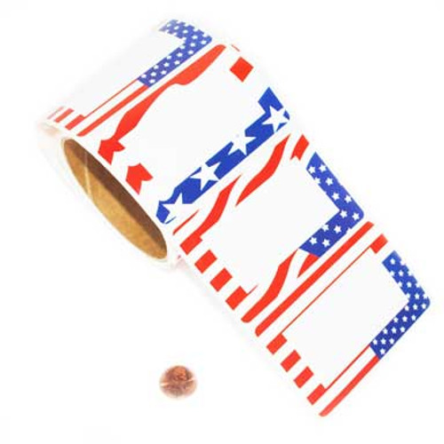 Patriotic Name Stickers (200 total stickers on 2 rolls) 4¢ each