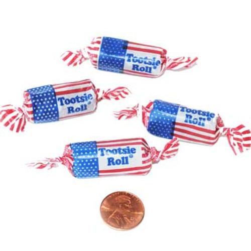 Patriotic Tootsie Rolls (140 total tootsie rolls in 2 bags) 6¢ each