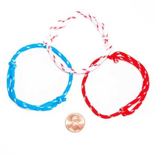 Patriotic Nylon Rope Bracelet (144 total bracelets in 2 bags) 7¢ each